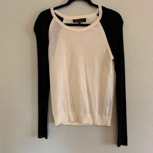Rag and Bone Cream and Black Open Knit Sweater